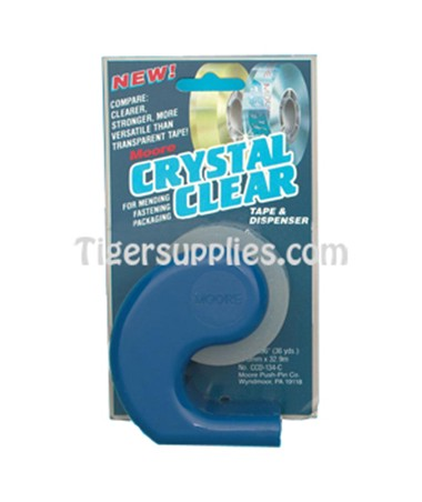 TAPE,CRYSTAL CLEAR,3/4 ,W/DISP CC1340