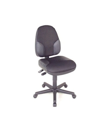 Alvin Monarch Office Chair Black with Leather Accents CH555-95