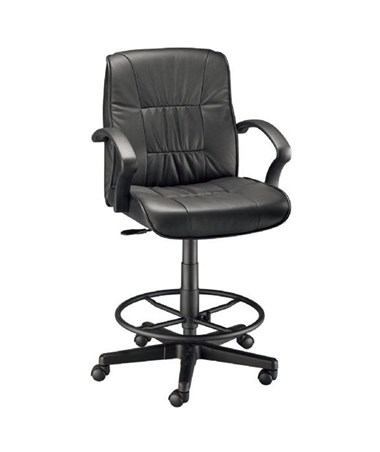 Alvin Art Director Executive Leather Drafting Chair CH777 90DH