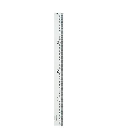 Crain 4-Inch Wide Stream Gauge (100ths, 10ths, Feet), 0-4 Feet 99001