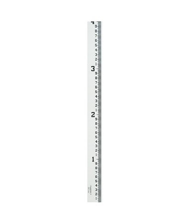Crain 4-Inch Wide Stream Gauge (100ths, 10ths, Feet), 4-8 Feet 99002
