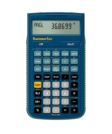 Calculated Industries Tradesman Calculator Cal4400
