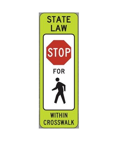 Eastern Metal VP-6500 In-Street Pedestrian Crosswalk Sign EASVP-6536-STOP-FB-