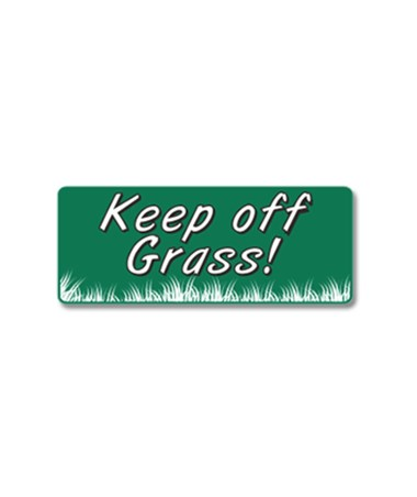 EverMark Keep Off Grass Property Sign EVEGHM-604-01-