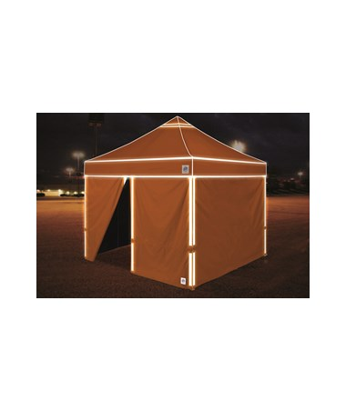 E-Z UP Hi-Viz Utility Shelter Bright Orange With Side Walls HV910BORVP