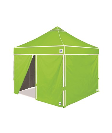 E-Z UP Hi-Viz Utility Shelter Bright Green With Side Walls HV910BGRVP