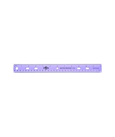 PLASTIC RULER, 12  ASST CLRS FL01