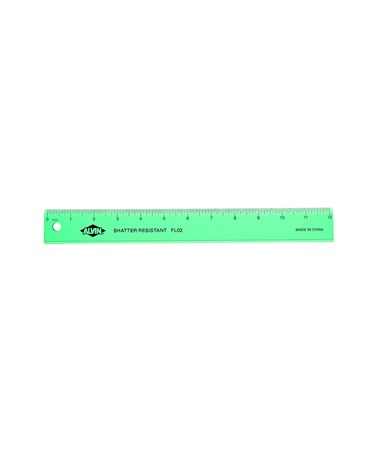 PLASTIC RULER WIDE 12in ASSTD FL02