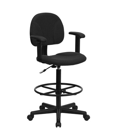 Flash Furniture Drafting Chair with Arms BT-659-BLK-ARMS-GG