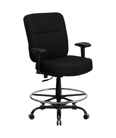 Flash Furniture Hercules Drafting Chair with Arms WL-735SYG-BK-AD-GG