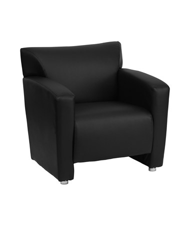 HERCULES Majesty Series Black Leather Chair [222-1-BK-GG] FLF222-1-BK-GG