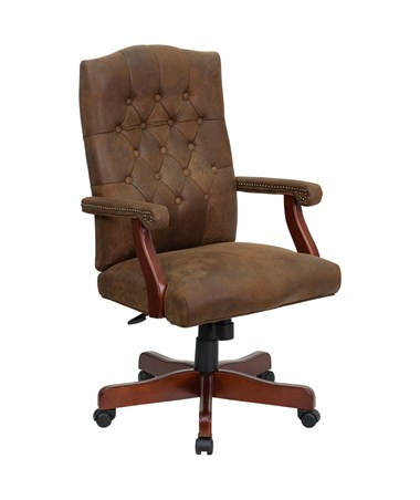 Bomber Brown Classic Executive Office Chair [802-BRN-GG] FLF802-BRN-GG