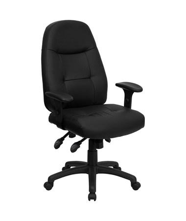 High Back Black Leather Executive Office Chair [BT-2350-BK-GG] FLFBT-2350-BK-GG