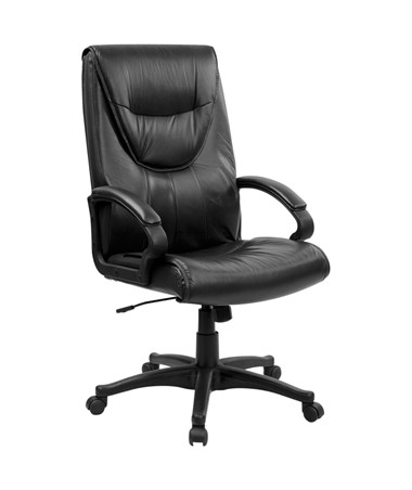 High Back Black Leather Executive Swivel Office Chair [BT-238-BK-GG] FLFBT-238-BK-GG