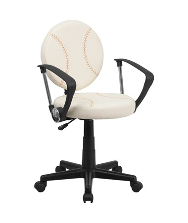 Baseball Task Chair with Arms [BT-6179-BASE-A-GG] FLFBT-6179-BASE-A-GG