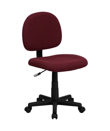 Mid-Back Ergonomic Burgundy Fabric Task Chair [BT-660-BY-GG] FLFBT-660-BY-GG