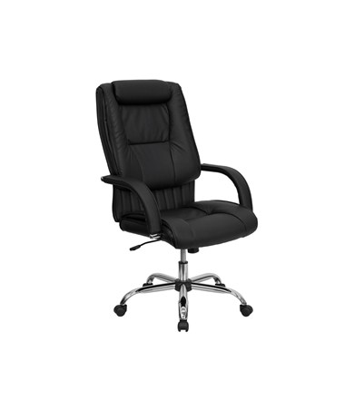 High Back Black Leather Executive Office Chair [BT-9130-BK-GG] FLFBT-9130-BK-GG