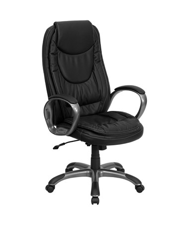 High Back Black Leather Executive Swivel Office Chair [CH-CX0068H04-GG] FLFCH-CX0068H04-GG