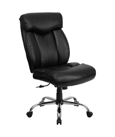 HERCULES Series 350 lb. Capacity Big & Tall Black Leather Office Chair [GO-1235-BK-LEA-GG] FLFGO-1235-BK-LEA-GG