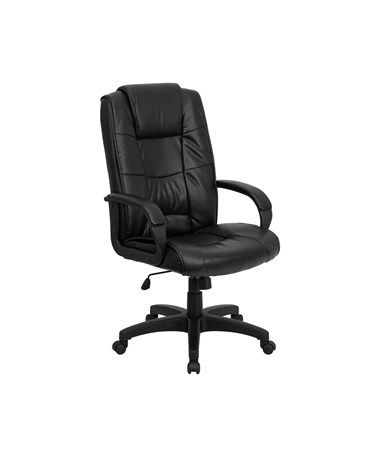 High Back Black Leather Executive Office Chair [GO-5301B-BK-LEA-GG] FLFGO-5301B-BK-LEA-GG