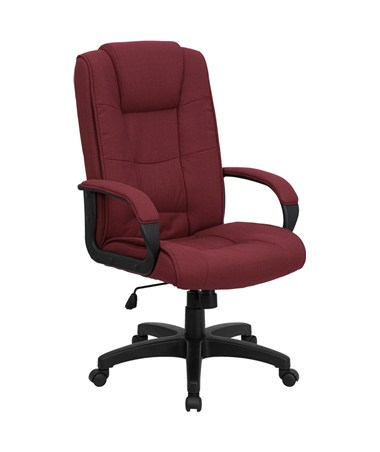 High Back Burgundy Fabric Executive Office Chair [GO-5301B-BY-GG] FLFGO-5301B-BY-GG