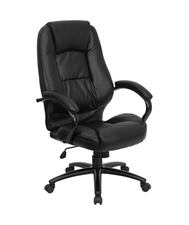 High Back Black Leather Executive Office Chair [GO-710-BK-GG] FLFGO-710-BK-GG