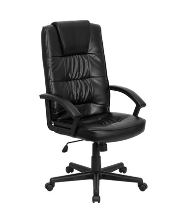 High Back Black Leather Executive Office Chair [GO-7102-GG] FLFGO-7102-GG