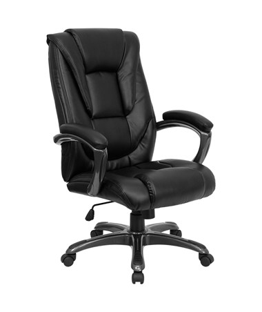 High Back Black Leather Executive Office Chair [GO-7194B-BK-GG] FLFGO-7194B-BK-GG
