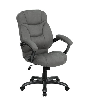 High Back Gray Microfiber Upholstered Contemporary Office Chair [GO-725-GY-GG] FLFGO-725-GY-GG