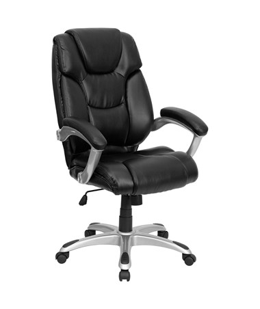 High Back Black Leather Executive Office Chair [GO-931H-BK-GG] FLFGO-931H-BK-GG