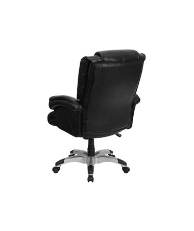 Flash Furniture High Back Black Leather OverStuffed Executive