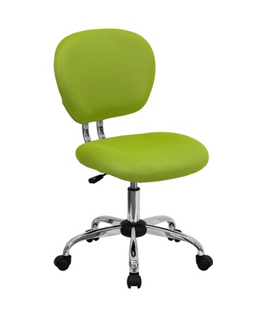 Mid-Back Apple Green Mesh Task Chair with Chrome Base [H-2376-F-GN-GG] FLFH-2376-F-GN-GG