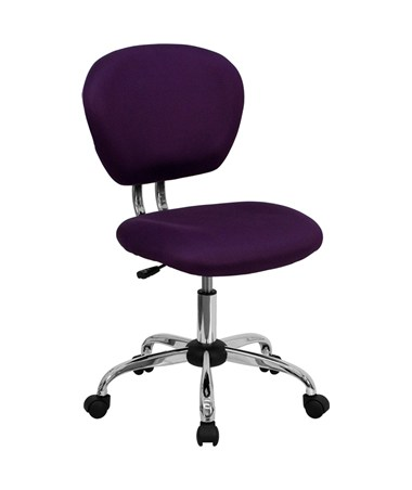 Mid-Back Purple Mesh Task Chair with Chrome Base [H-2376-F-PUR-GG] FLFH-2376-F-PUR-GG