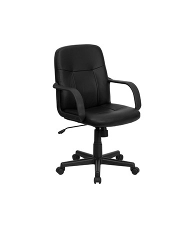 Mid-Back Black Glove Vinyl Executive Office Chair [H8020-GG] FLFH8020-GG