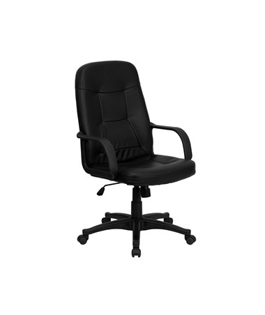 High Back Black Glove Vinyl Executive Office Chair [H8021-GG] FLFH8021-GG