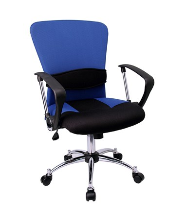 Mid-Back Blue Mesh Office Chair [LF-W23-BLUE-GG] FLFLF-W23-BLUE-GG