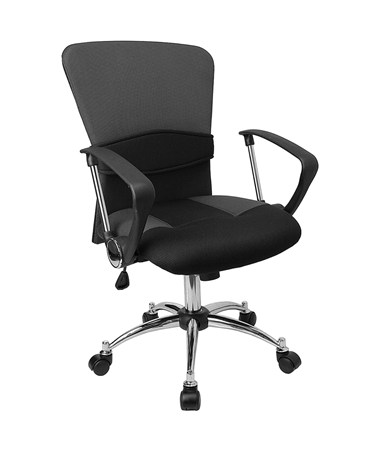Mid-Back Grey Mesh Office Chair [LF-W23-GREY-GG] FLFLF-W23-GREY-GG