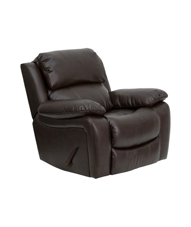 Brown Leather Rocker Recliner [MEN-DA3439-91-BRN-GG] FLFMEN-DA3439-91-BRN-GG