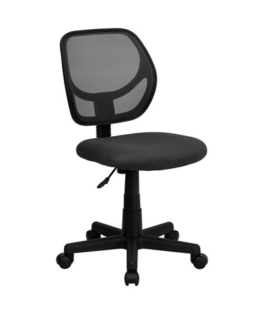 Mid-Back Gray Mesh Task Chair and Computer Chair [WA-3074-GY-GG] FLFWA-3074-GY-GG