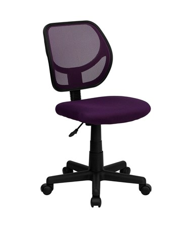 Mid-Back Purple Mesh Task Chair and Computer Chair [WA-3074-PUR-GG] FLFWA-3074-PUR-GG