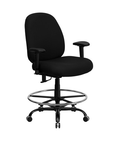 Flash Furniture Hercules Drafting Chair with Arms WL-715MG-BK-AD-GG