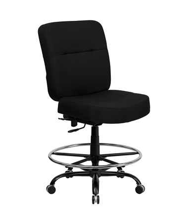 Flash Furniture Hercules Extra Padded Drafting Chair WL-735SYG-BK-D-GG