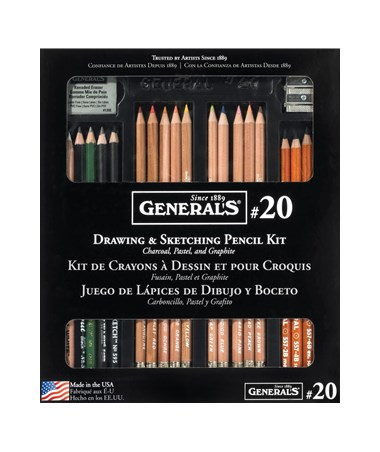 GENERALS CLAS DRW/SKETCH KIT G20