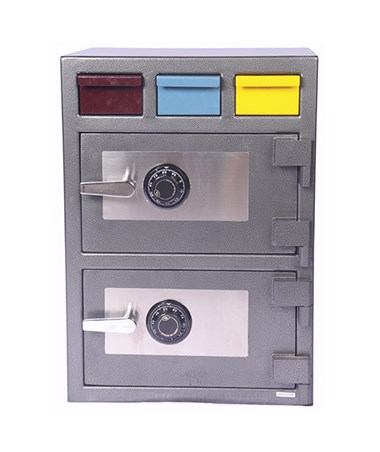 Hollon Double Door Triple Drop Depository Safe 3D-2820MM-EE