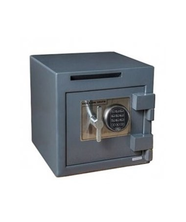 """Hollon B-Rated 14"""" Cash Safe with Drop Slot - UL Listed Type 1 S&G Spartan Electronic Lock B1414SE"""