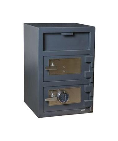 Hollon 30 x 20 B-Rated Double Door Depository Safe - Key and electronic Lock - FD-3020EK