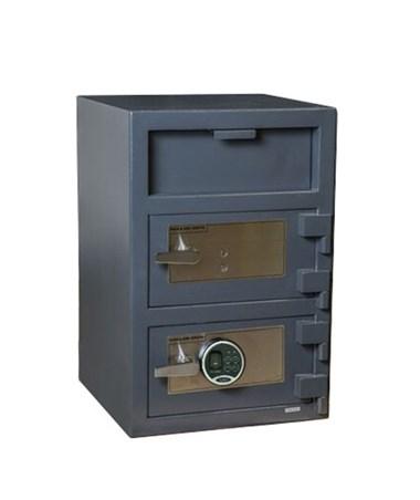 Hollon 30 x 20 B-Rated Double Door Depository Safe - Key and Biometric Lock - FD-3020EK-BIO