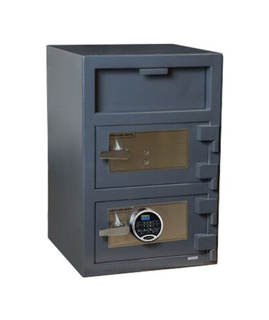 Hollon 30 x 20 B-Rated Double Door Depository Safe - Key and SecuRam Prologic L22 Electronic - FDD-3020EK-PRL