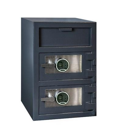 Hollon 30 x 20 B-Rated Double Door Depository Safe - 2 Biometric Lock FDD-3020EE-2BIO