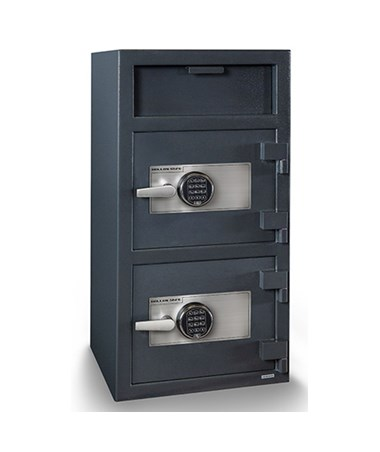 Hollon 40 x 20 Double Door B-Rated Depository Safe - 2 Type 1 S&G Spartan Electronic Locks FDD-4020EE